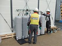 東日本大震災の被災者への仮設住宅の熱源にLPガスを活用。